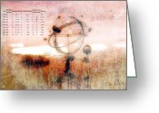 System Greeting Cards - Orrery Greeting Card by Bob Orsillo