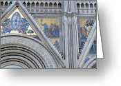 Heaven Digital Art Greeting Cards - Orvieto Cathedral Greeting Card by Mindy Newman