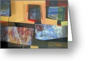Incas Greeting Cards - OS1957BO011 Abstract Landscape of Potosi Bolivia 18 x 33.3 Greeting Card by Alfredo Da Silva