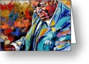Blues Greeting Cards - Oscar Greeting Card by Debra Hurd