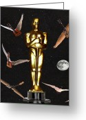  Biltmore Hotel Greeting Cards - Oscars Night Out Greeting Card by Eric Kempson