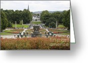 City Garden Greeting Cards - Oslo City Park Greeting Card by Carol Groenen
