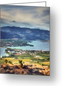 Okanagan Greeting Cards - Osoyoos Lake 2 Greeting Card by Tara Turner