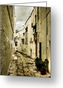 Passage Greeting Cards - Ostuni - Apulia Greeting Card by Joana Kruse