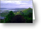 Peninsular Greeting Cards - Otago Peninsular  Greeting Card by Kevin Smith