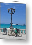 Sea View Greeting Cards - Otranto - Apulia Greeting Card by Joana Kruse