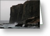 Ocean Path Greeting Cards - Otter Cliff Greeting Card by Juergen Roth