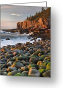 Desert Island Greeting Cards - Otter Cliffs At Sunrise Greeting Card by Stephen  Vecchiotti