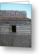 Cartton Greeting Cards - Otter Go Golfing Greeting Card by Cyryn Fyrcyd