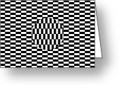 Trick Greeting Cards - Ouchi Illusion Greeting Card by
