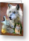 Howl Greeting Cards - Our Cry Greeting Card by Jai Johnson