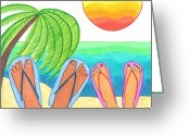 Relax Greeting Cards - Our Dream Vacation Greeting Card by Geree McDermott