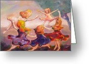 Beautifully Greeting Cards - Our Girls Dance Greeting Card by Naomi Gerrard