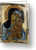 12th Century Greeting Cards - Our Lady Of Tenderness Greeting Card by Granger