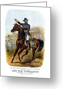 American Generals Greeting Cards - Our Old Commander Greeting Card by War Is Hell Store