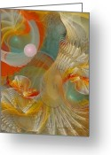Fractal Art Pastels Greeting Cards - Our Souls Expand Greeting Card by Gayle Odsather