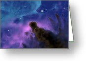 Molecular Clouds Greeting Cards - Our Sun May Have Formed Greeting Card by Ron Miller