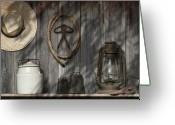 Rustic Photo Greeting Cards - Out in the Barn III Greeting Card by Tom Mc Nemar