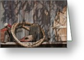 Basket Greeting Cards - Out in the Barn IV Greeting Card by Tom Mc Nemar