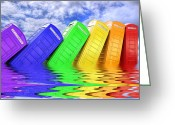 Kingston Greeting Cards - Out Of Order - A Rainbow - Kingston - Surrey Greeting Card by Colin J Williams Photography