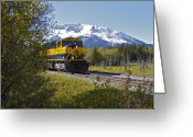 Railroad Tracks Greeting Cards - Out Of Place Greeting Card by Rick  Monyahan