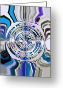 Signed Digital Art Greeting Cards - Out Of The Blue 2 Greeting Card by Katina Cote