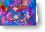 Designers Choice Painting Greeting Cards - Out of the Blue Greeting Card by Don  Wright