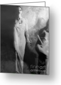 Survivor Art Greeting Cards - Out of the Fog - Self Portrait Greeting Card by Jaeda DeWalt
