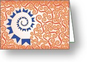 Ethnic Digital Art Greeting Cards - Out of the Norm Greeting Card by Maria Lopez
