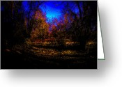 Flood Plain Greeting Cards - Out of the Shadows Greeting Card by David Patterson