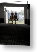Churchill Downs Greeting Cards - Out of the Tunnel Greeting Card by Lone  Dakota Photography