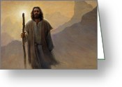 Jesus Art Painting Greeting Cards - Out of the Wilderness Greeting Card by Greg Olsen