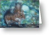 Nutty Greeting Cards - Out on a Limb Greeting Card by Jana Withers