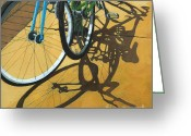 Bicycle Art Greeting Cards - Out to Lunch Greeting Card by Linda Apple