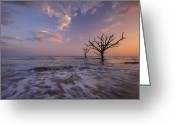 South Carolina Beach Greeting Cards - Out to Sea Greeting Card by Joseph Rossbach