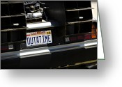 Custom Art Photo Greeting Cards - Outatime Greeting Card by Ricky Barnard