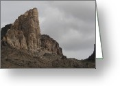 Oatman Greeting Cards - Outcropping Greeting Card by Christopher Kirby
