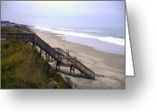 Banks Greeting Cards - Outer Banks Greeting Card by Patrick  Flynn
