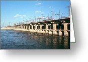 Hydroelectric Greeting Cards - Outflow Of Hydroelectric Dam, Volga, Russia Greeting Card by Ria Novosti