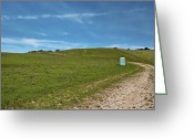 San Juan Bautista Greeting Cards - Outhouse on Lonely Road Greeting Card by Eddy Joaquim