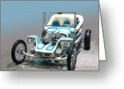 Ed Roth Greeting Cards - Outlaw Greeting Card by Bill Dutting
