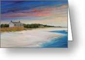 Carolina Painting Greeting Cards - Outlook II Greeting Card by Sharon Kearns