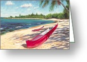 North Shore Greeting Cards - Outrigger - Haleiwa Greeting Card by Steve Simon