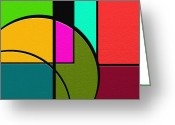 Abstract Prints Greeting Cards - Outs Greeting Card by Ely Arsha