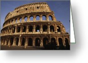 Latium Region Greeting Cards - Outside Of The Collosseum, Rome, Italy Greeting Card by Paul Chesley