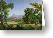 Villagers Greeting Cards - Outskirts of Valdemusa Greeting Card by Adolphe Paul Emile Balfourier