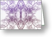 Love Framed Prints Framed Prints Prints Greeting Cards - Outward Tree 9 Hybrid 4 Greeting Card by Brian  Kirchner