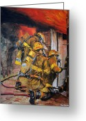 Fighters Painting Greeting Cards - Over Head Heat Greeting Card by Paul Walsh