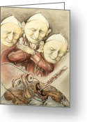 Critical Illustration Greeting Cards - Over-Pope-Ulation - Critical Cartoon Greeting Card by Peter Art Prints Posters Gallery