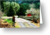 Pdx Art Greeting Cards - Over the bridge Greeting Card by Cathie Tyler